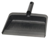"Plastic Dustpan Flexible Black 12"" x 8"" Flo-Pac"