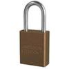"American Lock® Brown Aluminum Safety Lockout Padlock, 1.5"" Shackle"