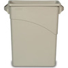Slim Jim®, Waste Container, 15-7/8 gal, Light Gray