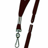 Breakaway Badge Lanyard, Swivel Hook, Woven Nylon, Maroon, 35 in