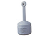 Justrite® 26800 Gray Smokers Cease Fire Cigarette Receptacle