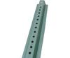"Steel U-Channel Sign Post 6' Green 3/8"" Hole Diameter"