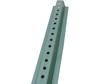 8 Steel U-Channel Post For Signs Green 3/8 Center Holes Ribbed Back