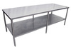 Stainless Steel Prep Table with Undershelf 24 W x 36 H Heat Seal