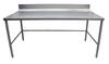 "Heat Seal® SB1S-3036 30"" x 36"" Stainless Steel Food-Prep Table with Backsplash"