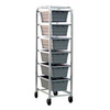 "NSF Aluminum Lug Cart Dolly 6-Shelf 6 Lug Cap 18-7/8"" x 26"" x 71"""