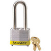 Safety Lockout Padlock, Laminated Steel, Yellow (Bumper), Keyed Different
