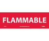 Flammable Sign, Vinyl