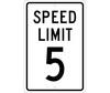 """NMC TM17H Speed Limit 5 Aluminum Sign 18"""" x 12"""""""