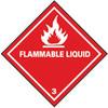 LABEL DOT SHIPPING FLAMMABLE LIQUID, PRESSURE SENSITIVE VINYL
