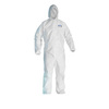 Kleenguard® A20, Disposable Coverall, SMS Fabric, White, 2X-Large, Elastic, Attached Hood