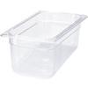 "Rubbermaid® FG118P00CLR Clear Cold Food Insert Pan, 6"" Deep"