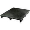 Stratis® Pallet Stackable 40 X 48 Plastic 4-Way Fork Entry Black