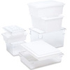 Rubbermaid 3508 Tote Box White 8.5 Gallon Cap FDA Compliant