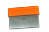 Scraper/Dough Cutter, Straight, Orange, 6 in, 4 in, Stainless Steel, 3 in, 10 x 3 in