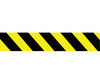 Barricade Tape, Striped, Black / Yellow, 3 in, 1000 ft