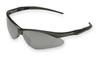 Safety Glasses, Polycarbonate, Smoke Mirror, Framed, Black