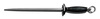 Sani-Safe®, Steel Sharpener, Black, Steel, 5 in, Polypropylene, 1/2 in, 19 in, Slip-Resistant, Coarse Cut, 6 per Box, Finger Guard with Ring, 14 in