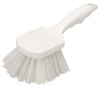 Carlisle 36620 Utility Scrub Brush with White Nylon Bristles, 8-inch
