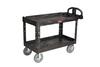Utility Cart, Structural Foam, 500 lbs, 55 in, 33-1/4 in, 26 in