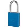 Aluminum Safety Padlock Keyed Different American Lock A1106BLU 1.5