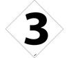 Number Labels, 3, Vinyl