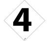 Number Labels, 4, Vinyl