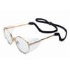 Safety Glasses, Clear, Scratch-Resistant, Gun Metal, Framed