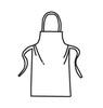 U2510 Disposable Apron, Polypropylene/Polyethylene, White, 36 in 28 in, Universal