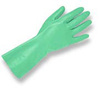Unsupported Processor Gloves, Green, Nitrile, 16 mil, Diamond, 13 in, Straight, Flock