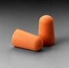 3M 1100 Disposable Earplug, Uncorded, Orange, Tapered, 29 dB