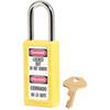 Zenex 411KAYLW Yellow Thermoplastic Safety Padlock Keyed Alike