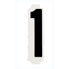 Quikalign®, Number Labels, 1, Vinyl, Adhesive Backed, Black on White