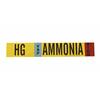 Brady 90404 HG and AMMONIA Vinyl Adhesive Backed Labels