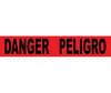 """""""Danger Peligro"""" Bilingual Barricade Tape, Black on Red, 3"""" x 1000'"""