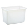 Bulk Mover Tub, 41 gal, 32-1/4 L x 23-1/4 W x 20 H in, Polyethylene, 32-1/4 in, 20 in, 23-1/4 in, White, Rust-Resistant, Corrosion-Resistant
