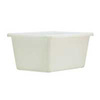 Bulk Mover Tub, 66 gal, 41-1/2 L x 29-1/2 W x 19 H in, Polyethylene, 41-1/2 in, 19 in, 29-1/2 in, White, Rust-Resistant, Corrosion-Resistant