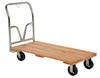 "Vestil VHPT-2754 Hardwood Platform Truck 1600 lbs cap 27"" x 54"""