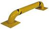 Machinery Rack Guard, 9 in, Steel, Yellow, 36 in, Low Profile