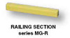 Machinery Guard, 2-1/2 in, Steel, Yellow, 56 in, High Profile