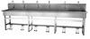Columbia® 512FSL Sani-Lav® 6-Faucet Trough Foot-Pedal Sink