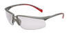 Privo, Safety Glasses, Polycarbonate, Clear, Anti-Fog, Half-Frame, Silver