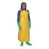 "AlphaTec 56-300 Heavy-Duty PVC Aprons Yellow 18 Mil 35"" x 48"""