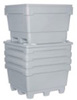 Monster Bin 2748 Natural Poly 4-Way Entry with Drain 333 Gal 44 x 48