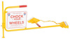 Rail Chock / Flag Rail Chock, Non-Slip Grip, Yellow