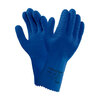 Ansell VersaTouch 62-401 Chemical-Resistant Gloves, Blue, Natural Latex Rubber