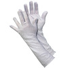 Inspector Gloves, Polyester, White, Uncoated, Large