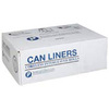 Can Liner, High-Density Polyethylene, 60 gal, 22 micron, Heavy, Natural