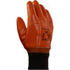 Monkey Grip®, Monkey Grip Gloves, PVC, Jersey, Brown, 10