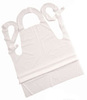 Disposable Apron, Polyethylene, White, 45 in, 28 in, Universal, 1-3/4 mil